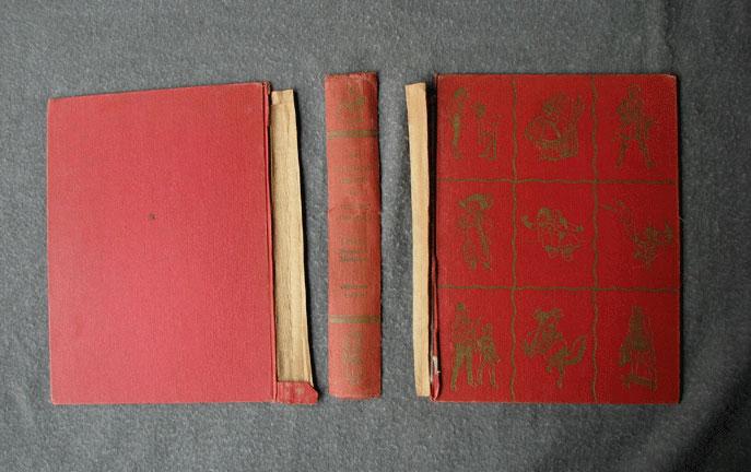 Repair Old Book Cover ~ Lincoln bookbindery book repair rebinding